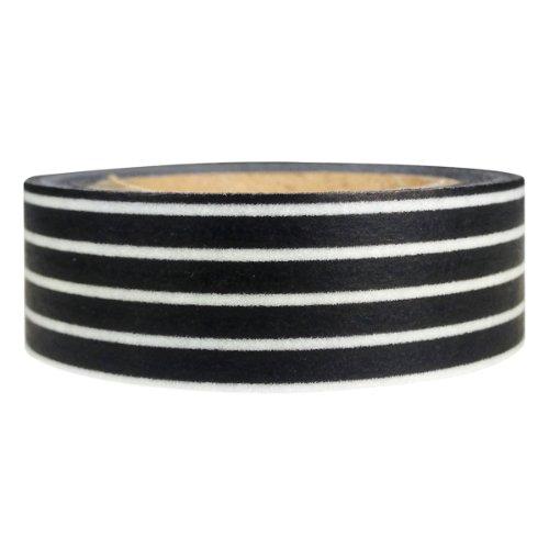 AllyDrew Striped Japanese Washi Masking Tape - Black Long Stripe