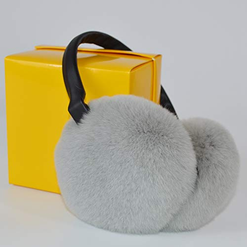 Headband Rabbit Rex Fur - Women Rex Rabbit Fur Earmuffs Winter Fashion Earmuff Russia Plush Earflap