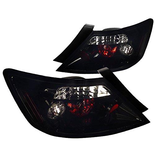 Honda Civic 2dr Plug - Spec-D Tuning LT-CV062BB-TM Honda Civic 2Dr Coupe Glossy Black Smoked ALtezza Tail Brake Lights