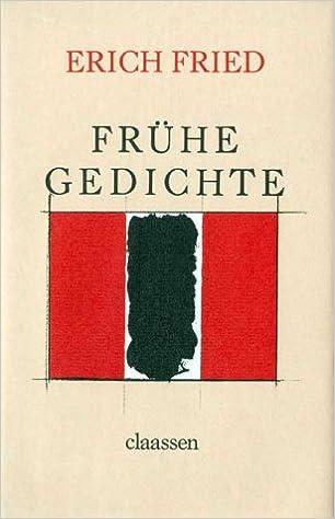 Frühe Gedichte Amazonde Erich Fried Bã¼cher