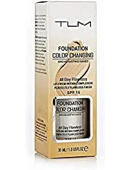 TLM Concealer Cover Cream, Flawless Colour Changing Foundation Makeup, Warm Skin Tone Foundation liquid Base Nude Face Moisturizing Liquid Cover Concealer for Women and Girls