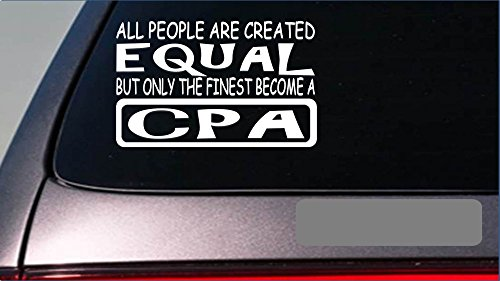 CPA equal StickerG634 8 Vinyl taxes accounting software desk computer