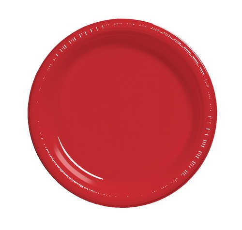 Creative Converting 28103111B 7 inch Plastic Lunch Plate Bulk Classic Red 600 Counts by Creative Converting