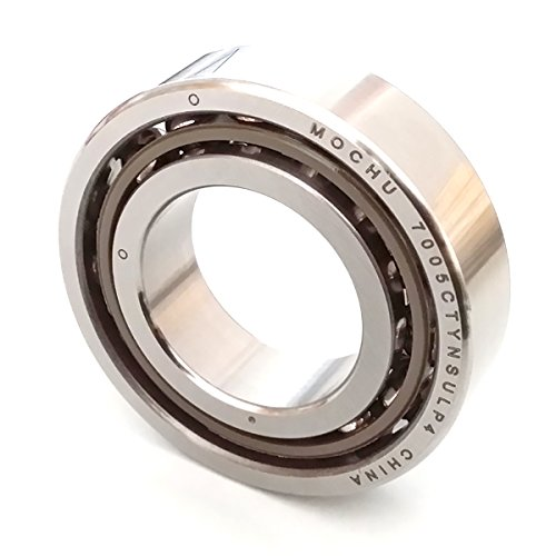 MOCHU 7005 7005C 7005CTYNSULP4 25x47x12 ABEC-7 Angular Contact Ball Bearing CNC 15° Contact Angle Universal Arrangement Metric ()
