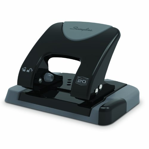 Swingline SmartTouch 2-Hole Punch, Reduced Effort, 20 Sheet Capacity (Hole 20 Sheet)
