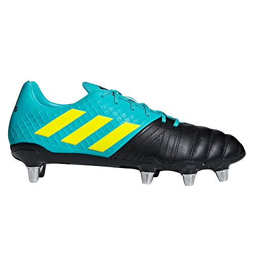 adidas Kakari Elite SG Soft Ground Mens Rugby Union Boot Black/Aqua - US 9.5