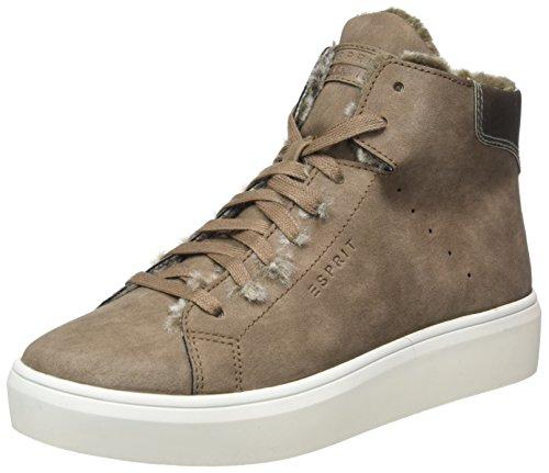 Marron Hautes Sneakers Elda Esprit Femme taupe Bootie zwtXO6q0x