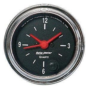 Meter Gauges Traditional Chrome Auto - Auto Meter 2585 Traditional Chrome Clock