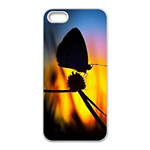 LJF phone case Artistic butterfly Phone Case for iPhone 5S(TPU)