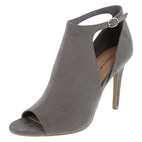 Christian Siriano for Payless Women's Grey Women's Ivy Hooded Peep-Toe Pump 5.5 Regular