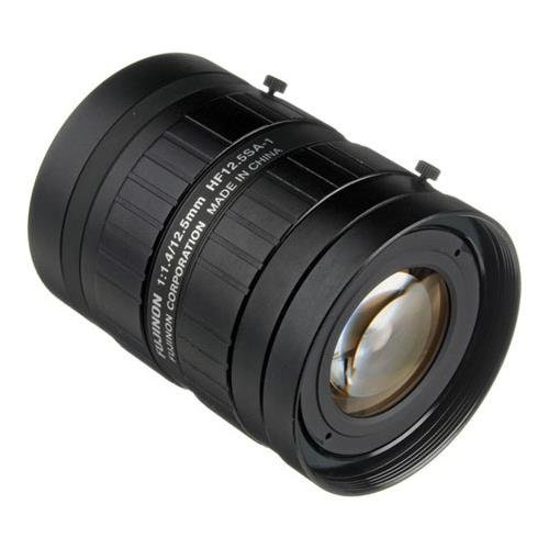 "Fujinon HF12.5SA-1 2/3"" 12.5mm F/1.4 C-Mount Fixed Focal Lens for 5MP Cameras, Machine Vision Applications"