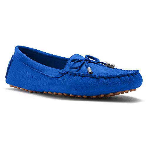 Herstyle Canal Women's Casual Bowknot Penny Loafers Moccasins Driving Shoes Slip on Flat Boat Shoes