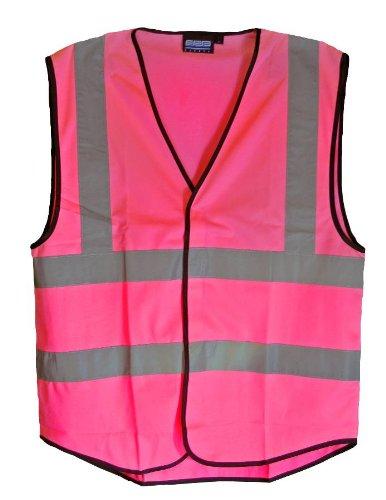 PINK Safety Vest, Size 3-XL Hi Vis, Size Runs Big 58 Chest; 30 ...