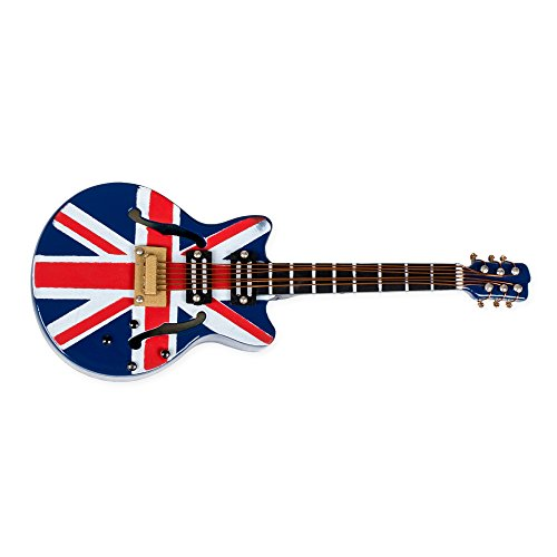 (Broadway Gifts Miniature Replica Guitar Magnets, 4 Inches (Union Jack Electric))