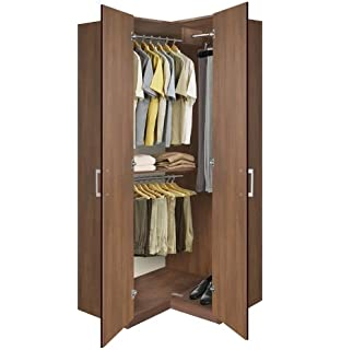 Great Bella Corner Wardrobe   Corner Closet W Three Hangrods