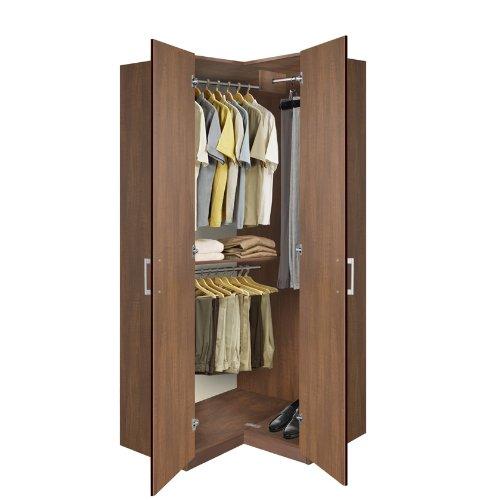 Amazoncom Bella Corner WardrobeCorner Closet w Three Hangrods