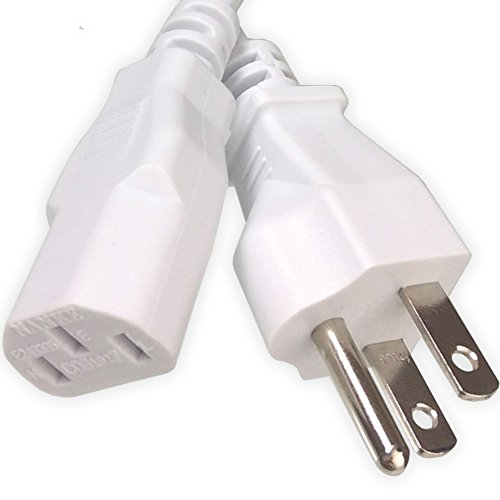 Ipax 15Ft Extra Long White AC Power Cord Cable Pull Copper W