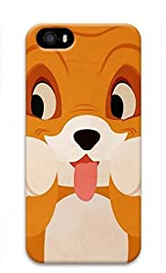 3D Hard Plastic Case for iPhone 5 5S 5G,Cute Dog Case Back Cover for iPhone 5 5S