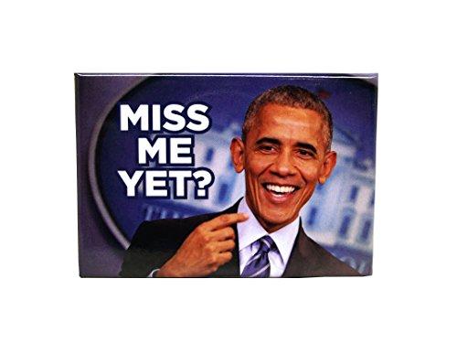 Fun Political Magnets (Obama Miss Me Yet) (Obama Refrigerator Magnet)