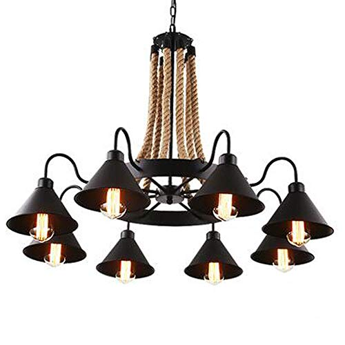 Zr Tieshan six-Headed Eight-Head lamp Indoor Convertible Chandelier/semi-Embedded Ceiling Light, Oil rub Bronze Finish Highlights and Metallic Tones (Size : Eight Heads) (Highlights Gold Finish Chandeliers)