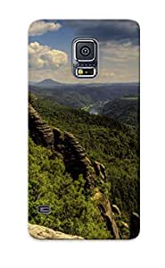 Exultantor High Quality Mountains Wild Nature Rocks Rivers Lakes Green Case For Galaxy S5 / Perfect Case For Lovers