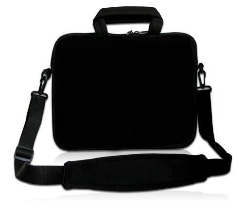 RICHEN 11 11.6 12 12.5 13 inches Case Laptop/Chromebook/Ultrabook/Macbook pro air Notebook PC Messenger Bag Tablet Travel Handle Case Neoprene with Shoulder Strap (11-13.3 inch, Pure Black) (Eleven Inch Tablet Case)