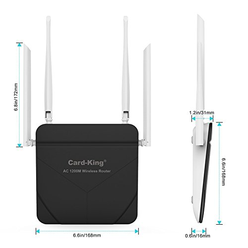 Wireless Router Long Range Ac 1200mbps High Speed Wifi To