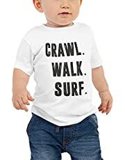 Surf Baby Infant Bodysuit Gift - Crawl Walk Surf Little Surfer Baby One Piece