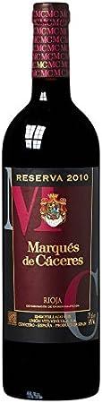 Marqués de Caceres Vino Tinto Reserva Do Rioja Botella, 75cl