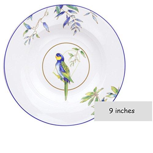 WAIT FLY Elegant Parrot Shaped Dinnerware Dinner Plate/ Rice Bowls/ Soup Bowl/ Dessert Plates/ Steak Plates/ Coffee Mug 9' Shaped Dinner Plates