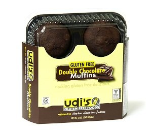 Udi's Gluten Free Double Chocolate Muffins (1 Case) by Udi's