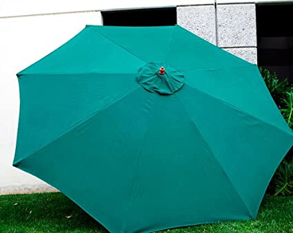 New Replacement Umbrella Canopy for 11FT 8 Ribs, Color: Green (CANOPY ONLY)