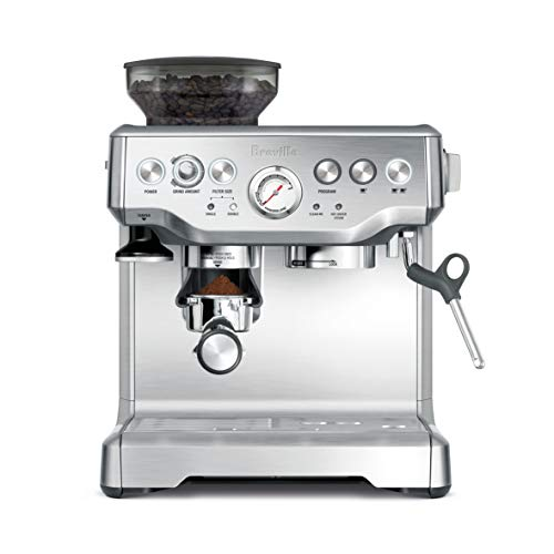 Breville the Barista Express Espresso Machine, BES870XL Dual Espresso Programmable Coffee Maker
