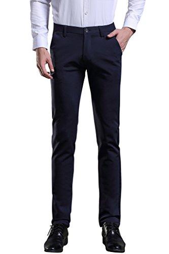 Herren Anzug Hose Slim fit Straight Leg Business Hose Pants von Harrms