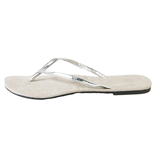 Hounds Mujeres Chanclas Bendable Plata