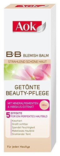 Aok getönte Beauty-Pflege hell, BB Creme Tagescreme, 2er Pack (2 x 50ml)