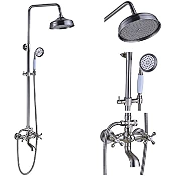Gowe Wall Mounted Brushed Nickel 8 Quot Rain Shower Head
