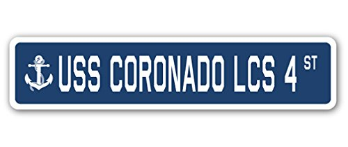 (USS Coronado LCS 4 Street Decal us Navy Ship Veteran Sailor Gift)