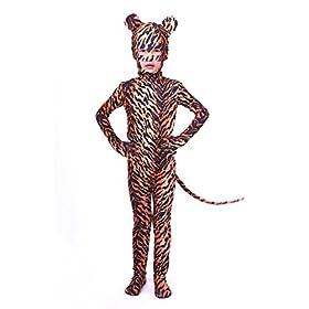 - 4150CHx0LaL - Nedal Kids Leopard Bodysuit Animal Halloween Onesie Cosplay Costume Lycra Suit
