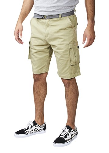 VINTAGE GENES 1891 Mens Stretch Twill Cotton Cargo Shorts Wheat Yellow Size - Twill Shorts Vintage