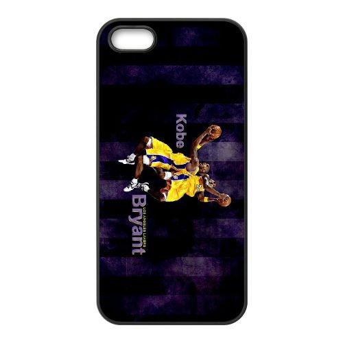 Kobe Bryant L.A. Lakers coque iPhone 5 5S cellulaire cas coque de téléphone cas téléphone cellulaire noir couvercle EOKXLLNCD25346