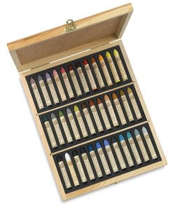 Sennelier Oil Pastel 36 Plein Air Wood Box