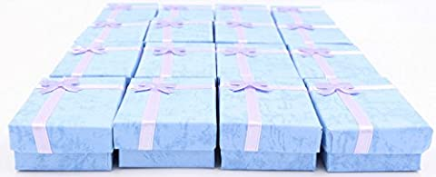 LeBeila 16pcs Paper Jewelry Gifts Boxes For Jewelry Display-Rings, Small Watches, Necklaces, Earrings, Bracelet Gift Packaging Box - Satin Covered Card Box