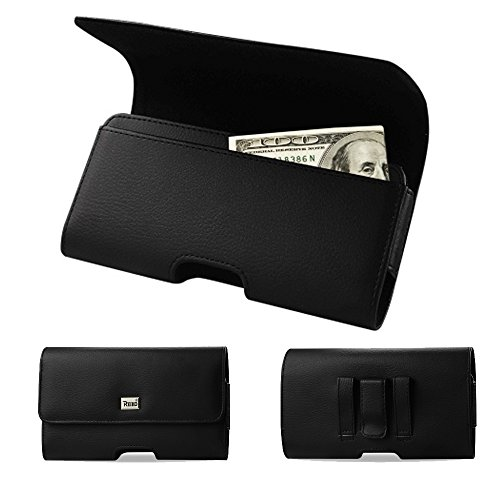 Horizontal Executive Leather Cash and Credit Card Case with Magnetic Closure with Belt Clip and Belt Loops for Acer Liquid Jade Z, Jade S3