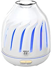 Diffuser, TaoTronics No-Beep Sound Essential Oil Diffusers, Silent Operation 120ml Aromatherapy Diffuser for Kids (Breathing Light, 5 LED Colors, 2 Mist Modes with Ultrasonic, Waterless Auto Shut Off)