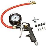 "EXELAIR EX0510PKIT Analog Pistol Grip Tire Inflator/Deflator Gauge Kit - 13"" Air Hose"