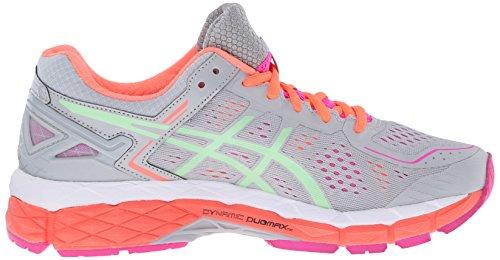 ASICS Womens GEL-Kayano 22 Running Shoe Silver Grey/Pistachio/Fiery Coral xArBKWpIAx