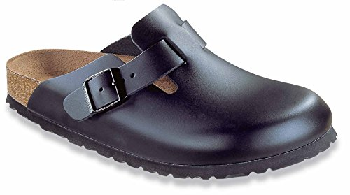 Birkenstock Boston Black Leather - Birkenstock womens Boston in Black from Leather Clogs 39.0 EU N