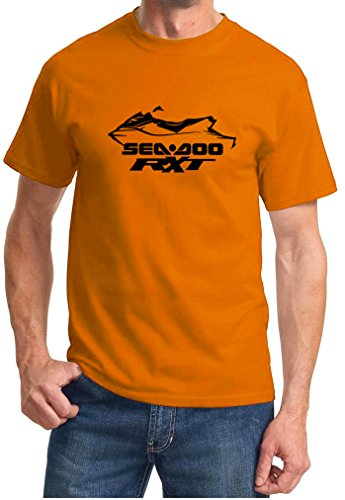 2008-11-sea-doo-rxt-jet-ski-pwc-classic-outline-design-tshirt-large-orange
