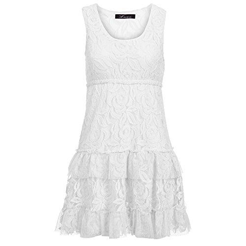 Unbekannt - Vestido - trapecio - para mujer Weiß